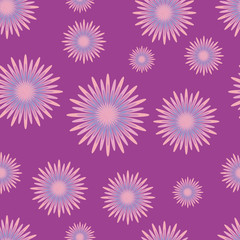 seamless pattern with lilac flowers