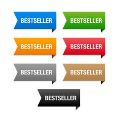 Bestseller labels. Vector.
