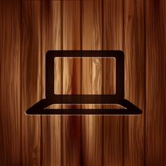 Notebook icon. Laptop symbol.