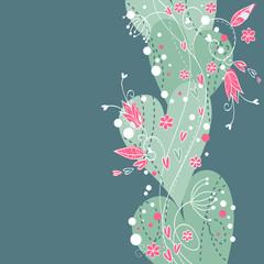 Elegant Valentine love floral postcard