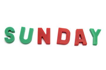 magnet alphabet SUNDAY