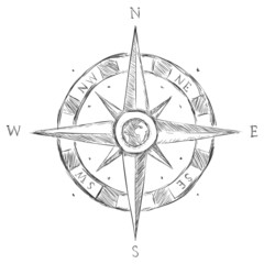 Vector Sketch Wind Rose