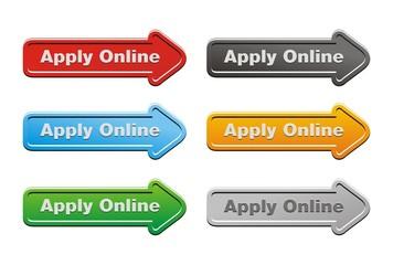apply online button sets - arrow buttons