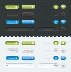 Website Buttons Set, Sign, Buttons, Symbol