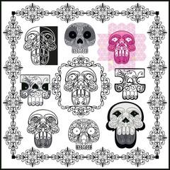череп и узоры