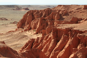 Flammende Felsen von Bayanzag Mongolei