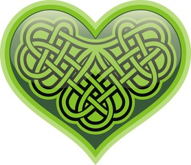 Shamrock heart. Celtic symbol