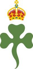Shamrock Royal badge of Northern Ireland