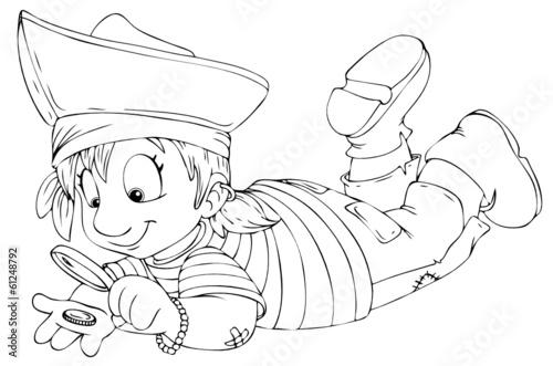 malvorlagen kostenlos piratin ronja  coloring and malvorlagan
