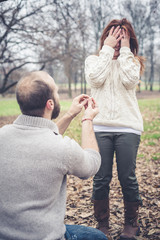couple in love marriage proposal