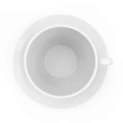 Empty Coffee Cup isolated on white background