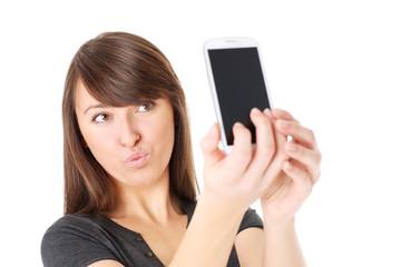 Sending kisses via cellphone