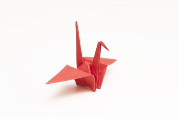 Red paper crane