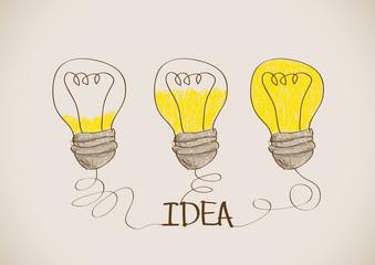 idea Light bulb vector icon