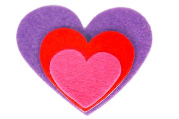 Colored heart shape