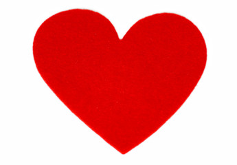 One red heart shape for Valentines day