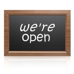 We are open on blackboard