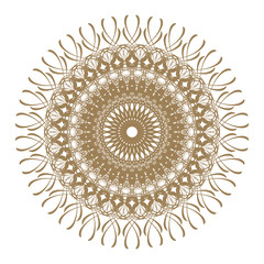 Decorative frame with vintage round patterns on white...