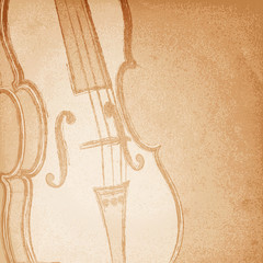 Retro violin. Vector illustration