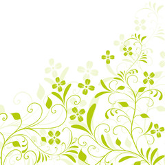 floral,frühling,blatt,abstrakt,grün,hellgrün,silhouette,deko