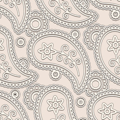 Beige background, seamless paisley pattern