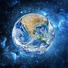 Wall Mural - Earth and galaxy