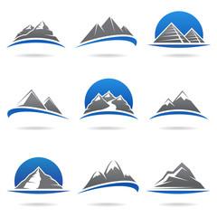 Mountains set. Vector