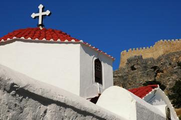 Panagia Kirche mit Festung in Lindos