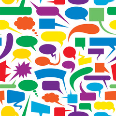 Speech bubbles colorful seamless pattern.