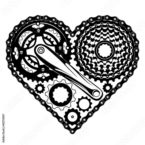 bicycle parts heart\