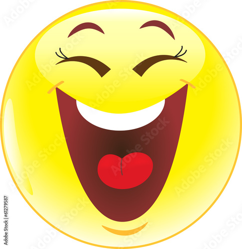 Quot Big Smile Emoticon Quot Stock Image And Royalty Free Vector