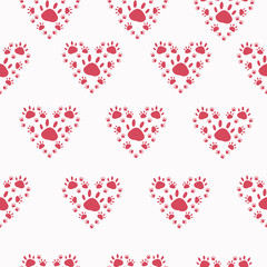 Trace a pet in the shape of a heart on solid background