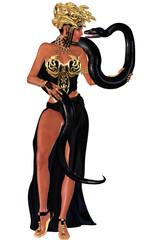 Snake charmer, sexy. with python.