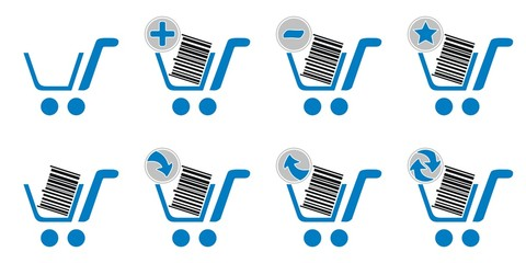 Shopping cart website icons