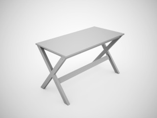 Blank work table construction