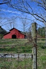 Rural Georgia farm scene