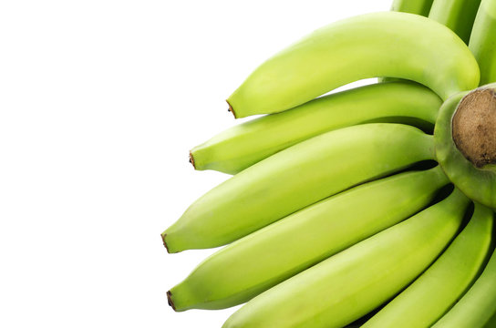 Bunch of bananas isolated on white background . Clipping path