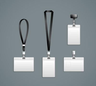 Lanyard, retractor end badge templates