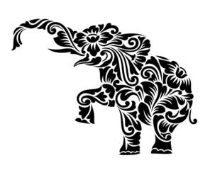 Elephant Floral Ornament Decoration