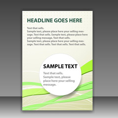 Folder or brochure template with space for text