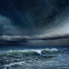 Photo sur cadre textile Tempete Stormy weather