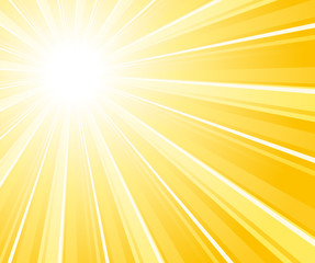 Commercial sunburst background.