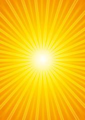 Beautiful hot sunburst background.