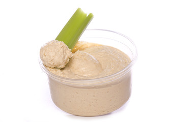 low fat food hummus and celery