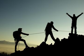 Wall Mural - dağcı ekibi