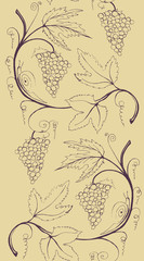 Bunch of grapes - seamless border
