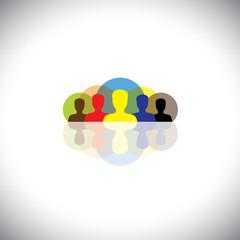 leader & leadership in corporates & companies - vector concept