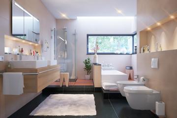 Badezimmer in Villa - luxury bathroom and spa area