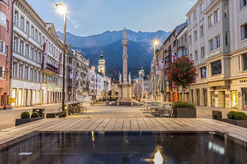 Saint Anne Column in Innsbruck, Austria. Wall mural