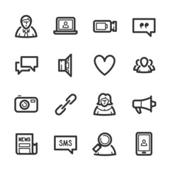 Social Networks icons – Bazza series